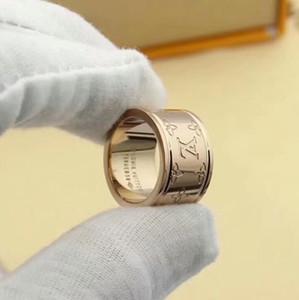 boutique de joyería letra París Designersss Anillos Multimillonarios de alta calidad Louis talla de anillos para los hombres mujer fiel vales de regalo de las mujeres anillo