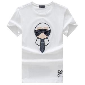Diseño de la nueva marca camisetas ocasionales camiseta de los hombres camisetas de la moda de la novedad de los ojos del bordado de lujo FF Camisetas para hombre de las camisetas de las mujeres Streetwear