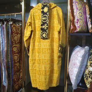 Lüks klasik pamuk bornoz kadın ve erkek marka pijamalar kimono sıcak banyo elbiseler ev giyim unisex bornoz klw1739