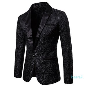 Slim Fit Blazer Men New Arrival Mens Floral Blazers Floral Prom Dress Blazers Elegant Wedding Blazer and Suit Jacket Men XM01