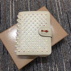 La cerniera rivetto in pelle di moda piazza cambiamento breve portafoglio multi-funzionale bollette set carta d'identità moda d'avanguardia retrò uomini e donne