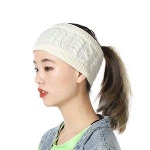 Örme Kafa Renkli Örme Tığ twist Bantlar Kış Kulak Isıtıcı Elastik Hairband Headwrap Geniş Saç Aksesuarları 15color GGA2790