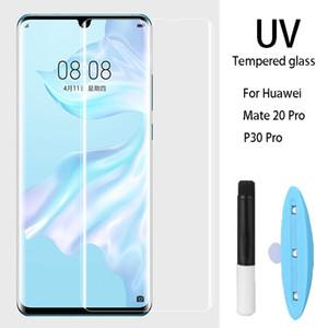 УФ закаленное стекло для Huawei P40 Pro P30 Mate 30Pro 20Pro Full Liquid Screen Protector для Xiaomi Mi 10 Pro Примечание 10Pro 10 стеклянная пленка