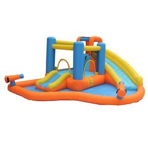 Nass oder trocken aufblasbares Dia Aufblasbares Schlag-Haus-Jumper Slide Parks Combo für Kinder Party im Freien Wasser aufblasbare Rutschen mit Wasserspray