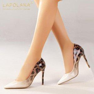 Lapolaka der neuen Entwurf 2020 mischte Farbe Thin-Absatz-Partei-Pumpen-Frauen-Schuh-spitze Zehe Slip-On Frühling Sexy Schuhe Frauen-Pumpen