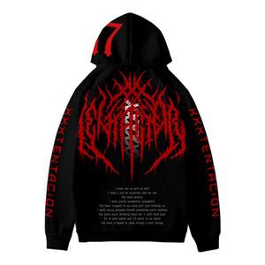 20SS hommes hoodies Printemps Automne Oversize Revanche AMOUR Pullovers Sweatshirts américain Rapper xxxtentacion