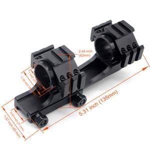 Tactical Double Scope Anéis Anel Duplo Montagem Cantilever Picatinny Weaver Scope Rail Mount com QD Cam Locks Adaptador
