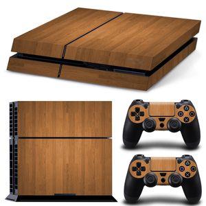 소니 플레이 스테이션 4 콘솔 PS4 DUALSHOCK 4 컨트롤러에 대한 풀 세트 바디 사용자 정의 스킨 스티커 방수 커버 필름 - 나뭇결