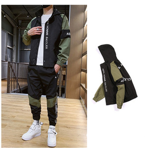 Mens Tracksuits With Fashion Letter Embroidery Street Sports Styles 2pcs Sets Spring Autumn Casual Clothes