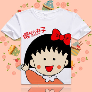 2019 New Chibi Maruko Cotton T-shirt for Women O Neck Short Sleeve t-shirt Student T shirts Summer Clothes Top Tees Comfortable