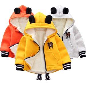 Baby-Kleidung Winter warme Jacke Baby, plus Samt Baumwollmantel Mädchen Jacke Cartoon tragen Kapuzen-Sweater