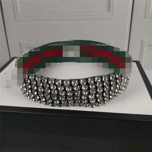 مصمم كامل الماس أنثى العصابة ريترو الشريط عدم الانزلاق فتاة الشعر الفرقة أعلى درجة مع صندوق الديكور Headwraps هدية