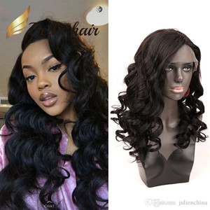 Loose Body Wave 13x4 Lace Front Wig Beautiful Human Hair wigs Wavy Hair Wig Natural Black Color 130%150% density Julienchina BellaHair