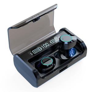 Индикатор питания дисплея TWS Bluetooth наушники V5.0 Стерео Бизнес Беспроводная гарнитура Спортивные наушники Наушники С 4000mAh Charge Box