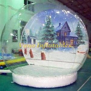 Ücretsiz Üfleyici Ücretsiz Kargo Ticari göster Büyük Snowing Sphere için Snow Globe 4m Yüksek Şişme Noel Topu