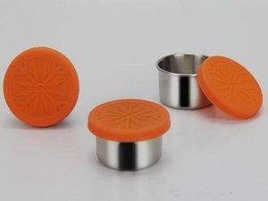 VAPE vide en acier inoxydable de 50 ml 304 Tins Récipient avec couvercle en silicone contenants ronds Jars de stockage Boîte métal Pots Boîtes de conserve Tins