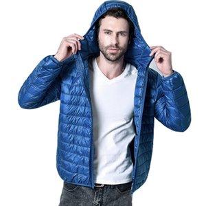 Casual Down Jacket Hoodies Solid White Duck Down Jacket For Men Windbreaker Coat Male Outwear Loose Ultra light Parka