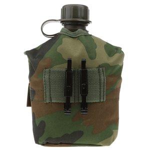 Outdoor-1L Militär Camping Armee Wasserflasche mit Beutel-Tactical-Gang-Beutel für Camping Wandern Überleben Klettern Zubehör