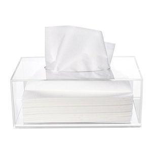 Einfache Acryl kleine Tissue Box Make-up Crystal Pumping Karton Organizer Fall klar Serviette Karton Multifunktions Display Box