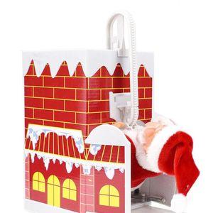 Мода Xmas Санта Box Игрушка Xmas Музыка Электрические игрушки Санта Climb Ladder электрические игрушки Christmans украшения Детские игрушки Xmas партия подарков WY96Q