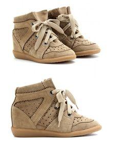 jede Art können Marken-Frauen Isabel Suede Bekett Wedge Sneakers Marant High Top echtes Leder-beiläufige Sportschuhe Ankle Boots werden anpassen