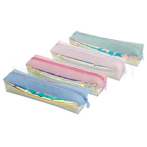 4styles قلم ليزر قلم رصاص تخزين حالة حقيبة الأقلام القرطاسية وحقائب الأطفال الطالب هدية ملونة اللوازم المدرسية مكتب شفافة FFA2648N