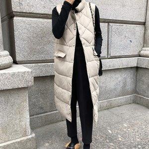 Yastıklı Pamuk Palto Uzun Yelek Ceket Kış Portmanto Yaka Kadın Plus Size Kalın Coat Bayan Casual Parkas Isınma HziriP