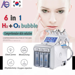 6in1 H2-O2 Hydra Dermabrasion Aqua Peel RF Bio-lifting Spa Facial Hydro Water Microdermabrasion Facial Machine Cold Hammer Oxygen Spray