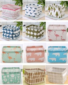 Foldable Colors Sundries Storage Bin Closet Toy Box Container Organizer Fabric Basket Home Desktop Storage wash-stand Cosmetics Basket Bags