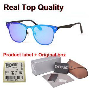 Высокая Quailty Новые Горячие продажи Алюминиевые Магний Солнцезащитные очки Мужчины Женщины Марка дизайн зеркало очки спортивные очки с розничной случае и этикетки