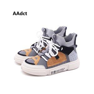 AAdct Autumn mesh new kids shoes running sport Scarpe da ginnastica traspiranti per ragazzi 2018 Marca Scarpe da bambino con taglio alto per bambina