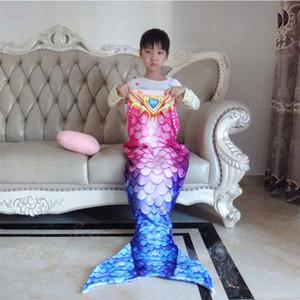 Lannidaa Mermaid Fish Scale Manta Mermaid Tail Throw Manta Para Niños Bebé Sofá Suave Usable Mantas de tela escocesa caliente