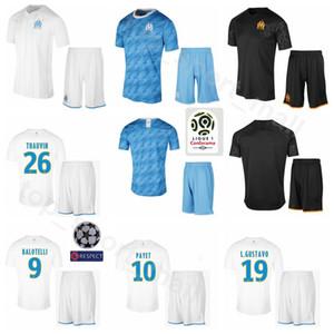 Marseille 2019 2020 Maillot Dimitri Payet 10 Ensemble 8 Morgan Sanson 12 Kevin Strootman 27 Maillot de foot Maxime Lopez Uniformes