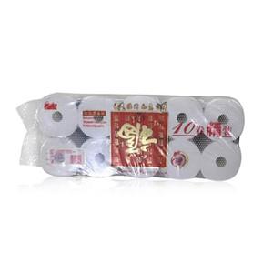 Kağıtlar 3 katmanlı Tuvalet Kağıdı Rulo Ev Banyo Tuvalet Kağıdı Rulo ev Malzemeleri Yılbaşı Dekoru Doku 10 Rulo / paket