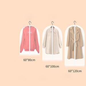 3 taille tissu anti-poussière couverture avec fermeture éclair vêtement organisateur costume robe veste vêtements protecteur pochette sac de rangement de voyage