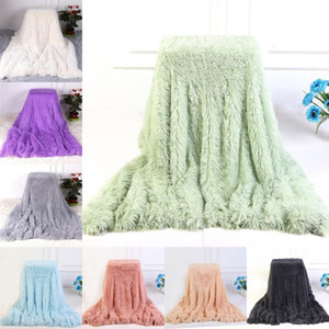 PV Fleece Blanket Double-Layer-Fluffy Decke Bett Sofa Super Soft Fuzzy Fur Faux Tragbarer Blanket