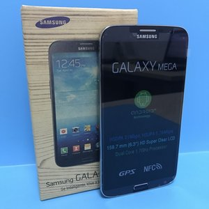 تجديد سامسونج غالاكسي ميجا 6.3 I9200 الهواتف المحمولة 6.3 بوصة وشاشة ثنائي النواة 16G ROM 8.0MP مقفلة LCD الأصلي