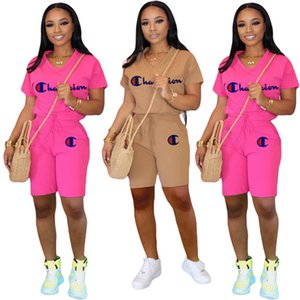 Women Summer brand Casual Pocket short sleeve suit V-neck T-shirt+Shorts S-2XL Tee Tops two piece set sportswear shorts suits 2752