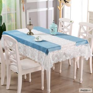 Europäische Rechteckige Haushaltskaffeetischdecke Tv Zähler Round Table Cloth Abdeckungen Spitze Klavier Tischläufer Handtücher Wohnkultur