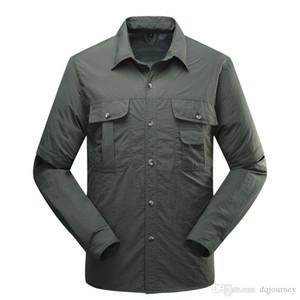 Ünlü erkek Gömlek Açık Marka Hızlı Kuruyan Gömlek Çıkarılabilir Yürüyüş T-shirt Taktik Gömlek Çekim Avcılık Tee Gömlek Çıkarılabilir Trous