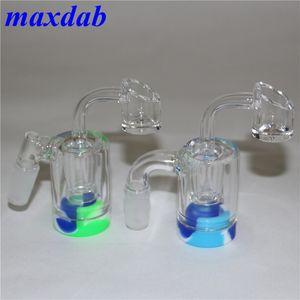 cendres de verre Reclaim Catcher catcaher handmake avec clous 4 mm Quartz Banger et les contenants de cire silicone pour 5ml Bong en verre plate-forme dab