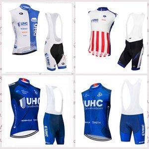 команда UHC продажи задействуя Горячих безрукавки трикотажного жилета нагрудника шорт наборы мужчин Велогонка Одежда MTB Sportwear F61943