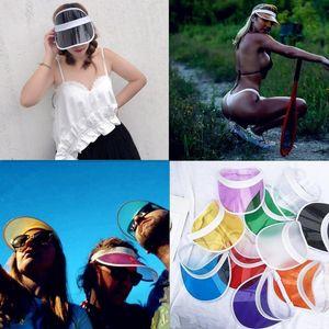 Transparent Sun Hats for Women New PVC Protection Summer Women Cap Sunshade Sun Caps Visor Cycling Outdoor Sports Casual Fashion