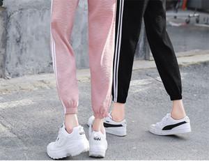 Mode Lässig Sweatpants Hosen Seitenstreifen Frauen Lose Elastische Taille Sportbekleidung Frauen Hosen Neue Bottoms 2018