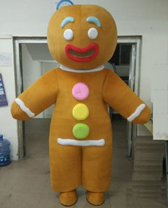 2019 factory sale hot the head funny adult gingerbread man mascot costume for adults to wear
