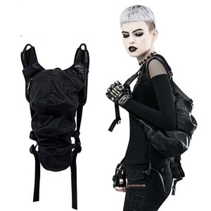 New women's backpack Hot sale explosions popular Steampunk PU leather stitching shoulder bag