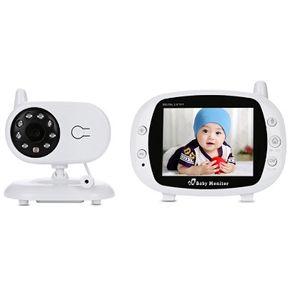 Babymonitor 3,5 Zoll Wireless TFT LCD Video Nachtsicht 2-Wege-Audio Säuglingsbabykamera Digital Video Monitor