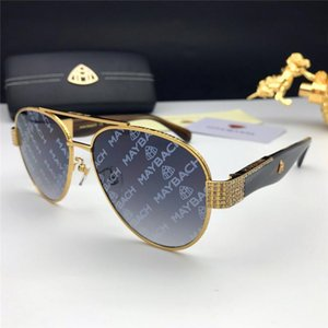 Nuevas gafas de sol de lujo de la moda gafas de sol de los hombres marco piloto de la estrella con recubrimiento de estilo vanguardista diseño de diamante impresión en color de la lente UV400