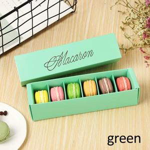 Galletas caja de embalaje blanco hueco pastel Macaron cajas contenedor Cupcake almacenamiento titular boda fiesta eventos Favor regalo