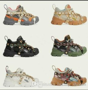 Flashtrek Casual shoes with Removable Crystals Womens Designer Running Sneakers Mountain Climbing Shoes Mens Outdoor Hiking boots m1